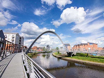 a bridge over a river in coventry